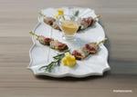 pinchos de pollo y mostaza
