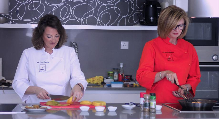 Marta Sebares en cocina